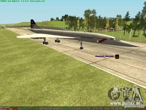 Concorde [FINAL VERSION] für GTA San Andreas