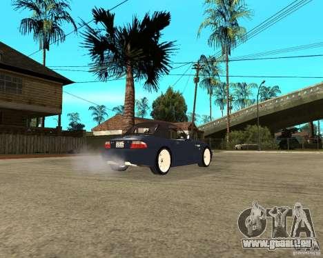 BMW Z3 Roadster pour GTA San Andreas sur la vue arrière gauche