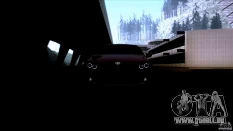 Volkswagen Sirocco pour GTA San Andreas vue intérieure