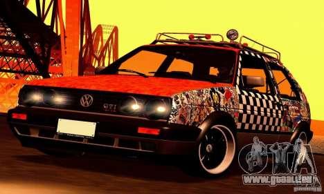 Volkswagen MK II GTI Rat Style Edition für GTA San Andreas Rückansicht