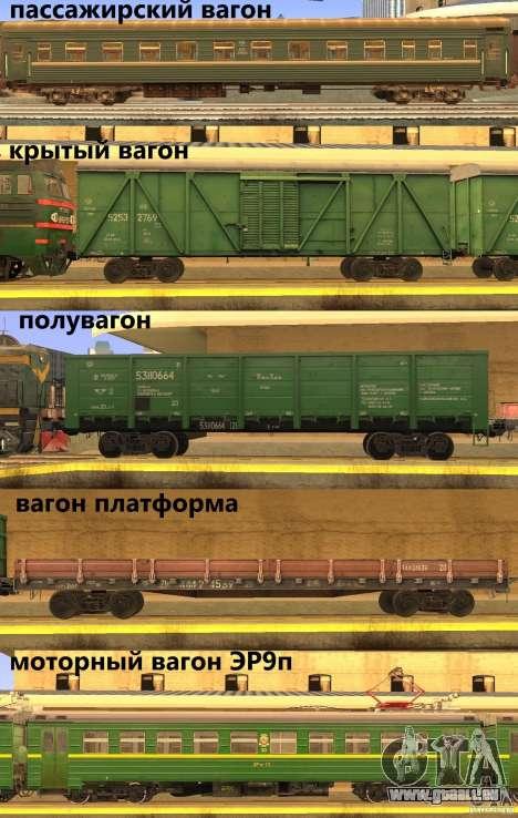 Mod de chemin de fer pour GTA San Andreas deuxième écran
