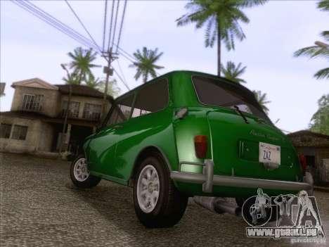 Austin Cooper S 1965 für GTA San Andreas zurück linke Ansicht