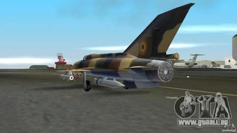MiG 21 LanceR A pour une vue GTA Vice City de la droite