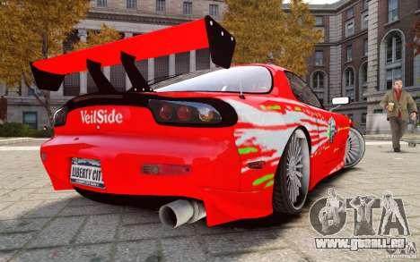 Mazda RX-7 Fast and Furious für GTA 4 linke Ansicht