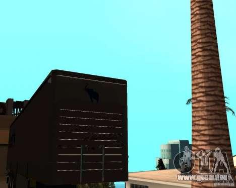 Schmitz pour GTA San Andreas sur la vue arrière gauche