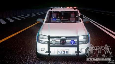 Chevrolet Trailblazer Police V1.5PD [ELS] pour GTA 4 vue de dessus