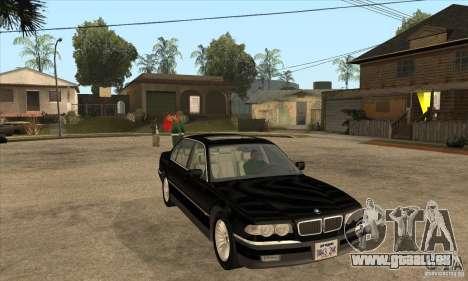 BMW E38 750IL pour GTA San Andreas vue arrière
