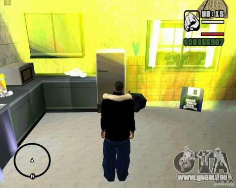 Faire les poubelles pour GTA San Andreas deuxième écran