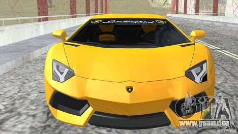 Lamborghini Aventador LP700-4 2012 für GTA San Andreas Seitenansicht