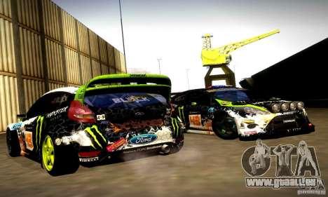 Ford Fiesta Gymkhana 5 pour GTA San Andreas vue de côté