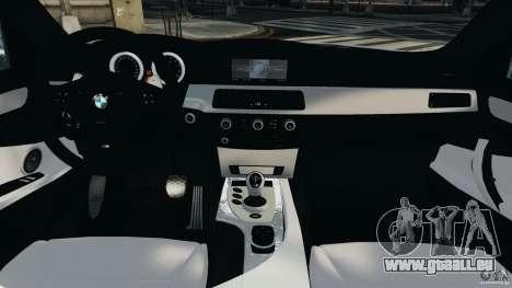 BMW M5 E60 2009 v2.0 pour GTA 4 Vue arrière
