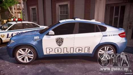BMW X6M Police pour GTA 4 est une gauche