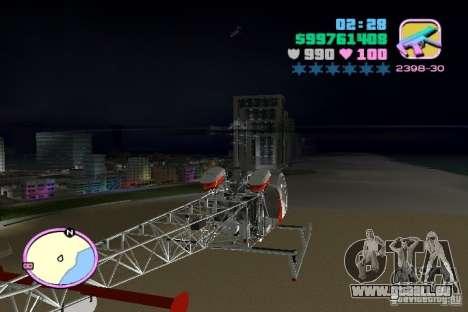 Bell 47 pour GTA Vice City sur la vue arrière gauche