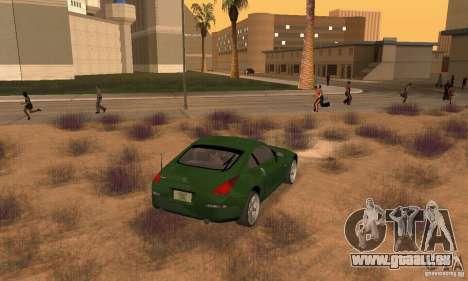 Nissan 350Z stock pour GTA San Andreas laissé vue