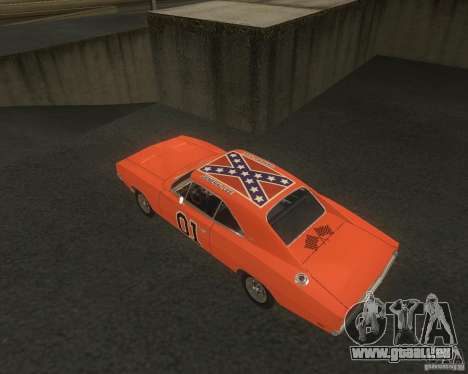 Dodge Charger für GTA San Andreas Rückansicht