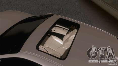 BMW M5 2009 pour GTA San Andreas vue de dessous
