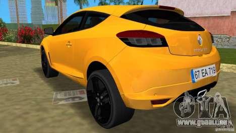 Renault Megane 3 Sport pour une vue GTA Vice City de la gauche