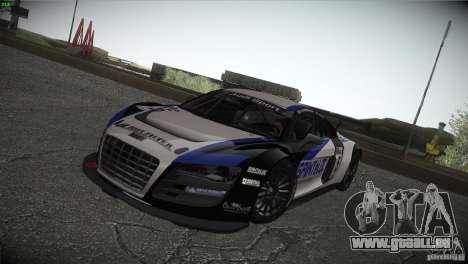 Audi R8 LMS für GTA San Andreas obere Ansicht