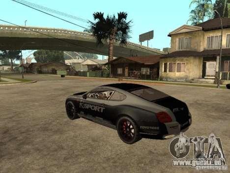 Bentley Continental SS Skin 4 pour GTA San Andreas laissé vue