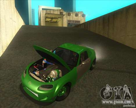Mazda Miata MX-5 Konguard 2007 pour GTA San Andreas vue intérieure