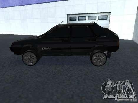 VAZ 2109 tunable für GTA San Andreas Rückansicht