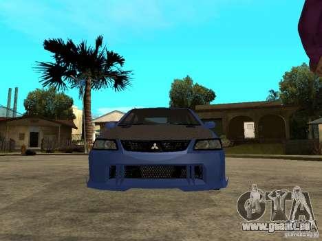 Mitsubishi Lancer EVO VIII Tuned für GTA San Andreas rechten Ansicht
