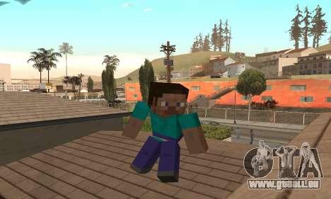 Steve aus dem Spiel Minecraft-Fell für GTA San Andreas