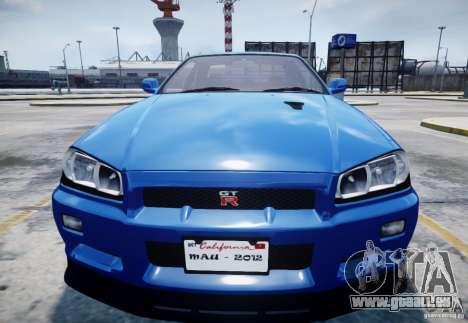 Nissan Skyline GT-R R34 Mspec für GTA 4 Innenansicht