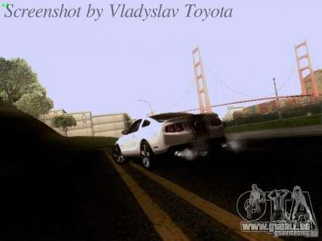 Ford Mustang GT 2011 pour GTA San Andreas vue de dessus