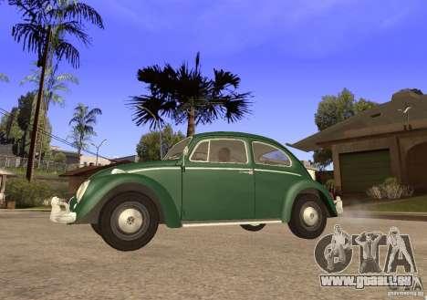 Volkswagen Beetle 1963 pour GTA San Andreas sur la vue arrière gauche