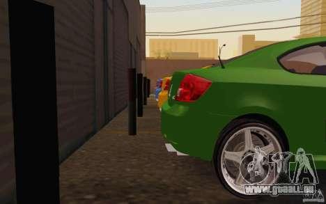 Scion tC pour GTA San Andreas vue intérieure