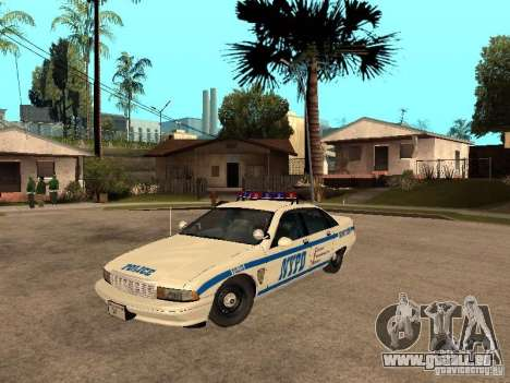 NYPD Chevrolet Caprice Marked Cruiser pour GTA San Andreas