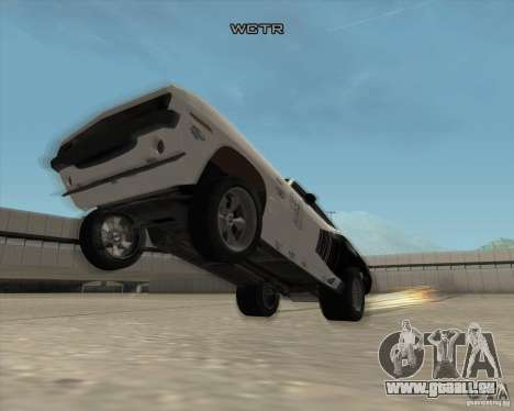 Plymouth Hemi Cuda Rogue pour GTA San Andreas vue de côté