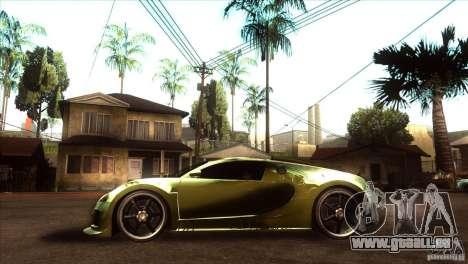 Bugatti Veyron Life Speed für GTA San Andreas linke Ansicht