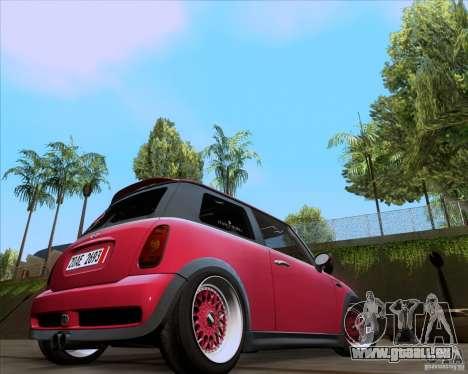 Mini Cooper S Euro pour GTA San Andreas laissé vue