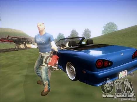Elegy Cabrio Edition für GTA San Andreas rechten Ansicht