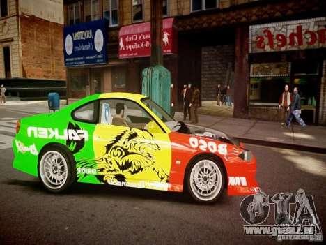 Nissan Silvia S15 Boso Drift Formula D M-Design pour GTA 4 est une vue de l'intérieur