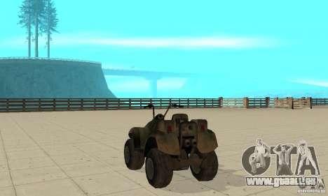 ATV de TimeShift pour GTA San Andreas sur la vue arrière gauche