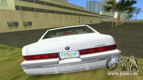 Buick Roadmaster 1994 pour une vue GTA Vice City de l'intérieur