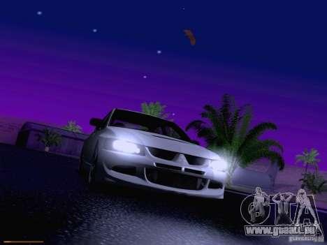 Mitsubishi Lancer Evolution VIII pour GTA San Andreas salon