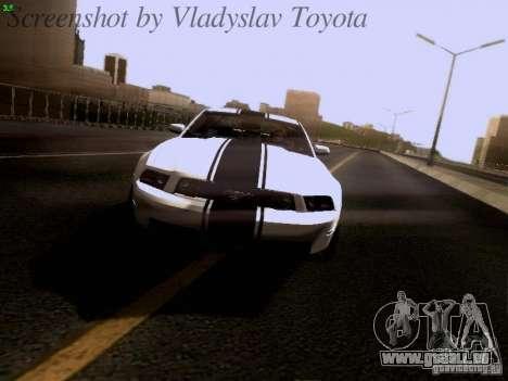 Ford Mustang GT 2011 pour GTA San Andreas vue de dessous