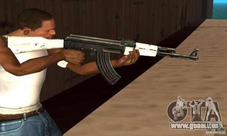 Bulletins d'enneigement AK47 (neige Ak47) pour GTA San Andreas troisième écran