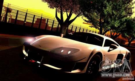 Noble M600 für GTA San Andreas Innenansicht