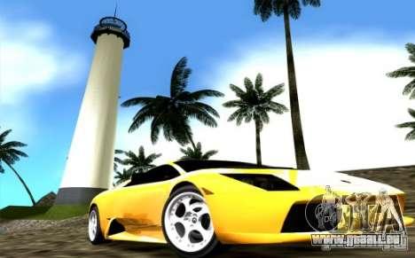 2005 Lamborghini Murcielago für GTA Vice City rechten Ansicht