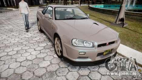 Nissan Skyline GT-R R34 2002 v1 für GTA 4 Rückansicht