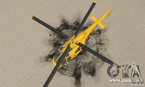 Der Sightseeing-Hubschrauber von Gta 4 für GTA San Andreas rechten Ansicht