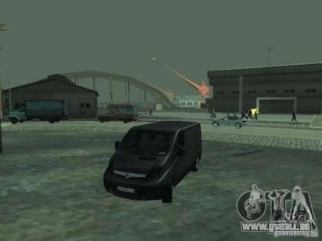 Vauxhall Vivaro v0.1 pour GTA San Andreas vue de dessous