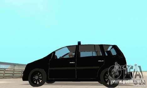 Volkswagen Touran 2006 Police pour GTA San Andreas vue de droite