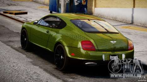 Bentley Continental SS 2010 Suitcase Croco [EPM] für GTA 4 hinten links Ansicht
