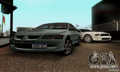 Mitsubishi Lancer Evolution 8 Tuneable für GTA San Andreas linke Ansicht